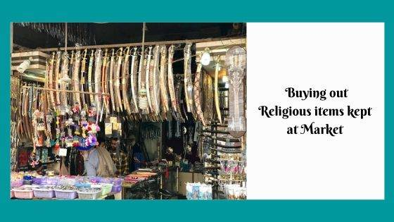 Buying out Religious items kept at Market