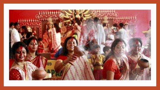 How is Durga Puja celebrated in Bengal