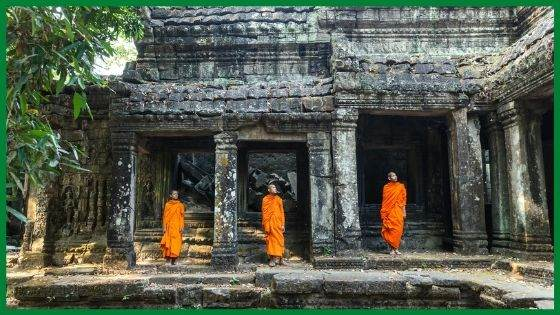 Buddhist Monks' Robes in Cambodia