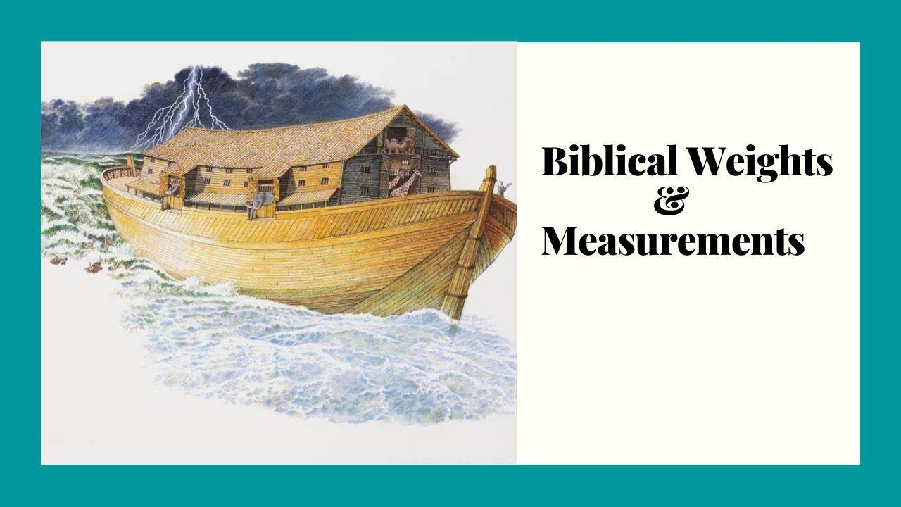 Conversion of Biblical Weights and Measurements