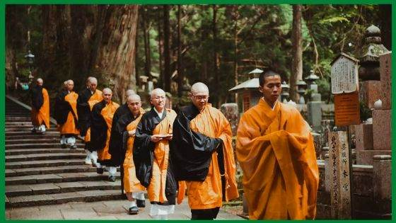 The Buddhist Monks' Robes in Kyoto, Japan