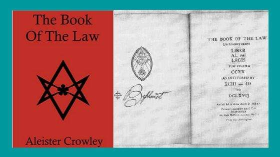 What is Crowley portraying about Thelema in his Book of Law
