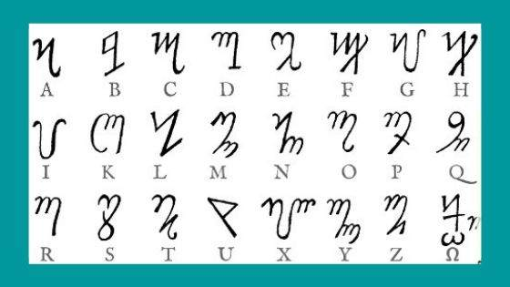 How are Theban Alphabets related to Magical Alphabets