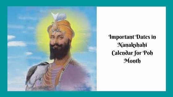Important Dates in Nanakshahi Calendar for Poh month
