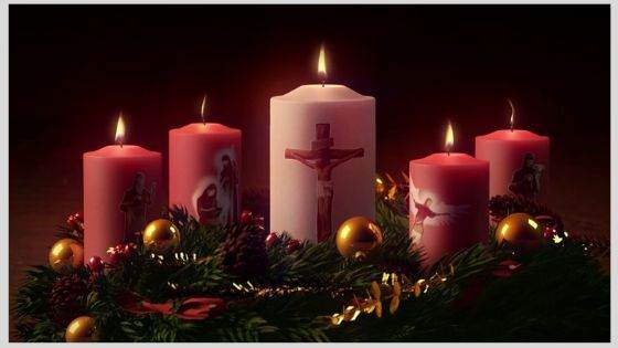 The Candles of the Advent Garland