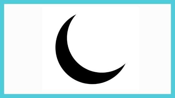 What is the Shape of crescent moon symbol