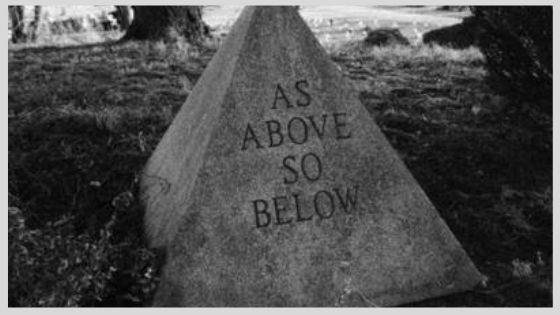 What is the meaning of the phrase as above, so below