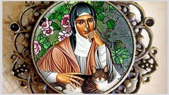 Why is Saint Gertrude the patron saint of cats