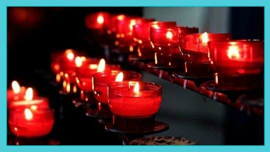 Red Candles Crystals