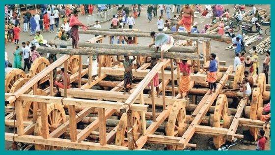 How are the Chariots made for Rath Yatra?