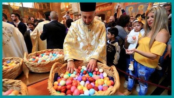 How are the celebrations carried out for the Orthodox Easter?