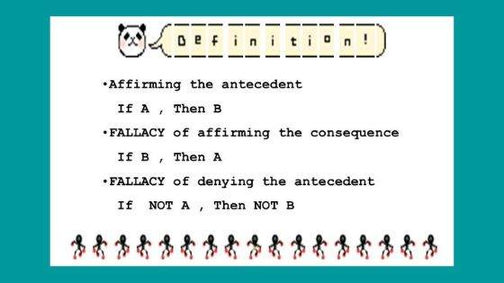 What is meant by affirming the antecedent?
