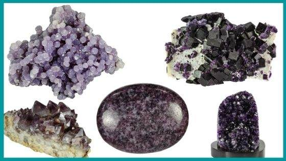 Association of Color Purple with Crystals