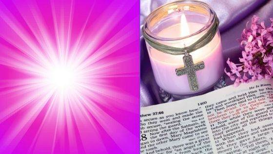Association of Purple Light with the Holy Bible